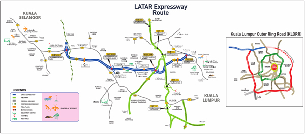 Latar Expressway Route